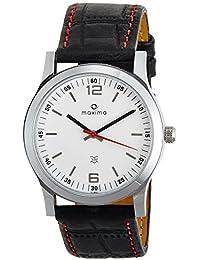 Maxima Attivo Steel Analog White Dial Men's Watch - 20880LMGI