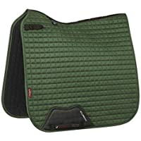 LeMieux Dressage Suede Square Hunter Green Saddle Pad, Unisex-Adult, Large