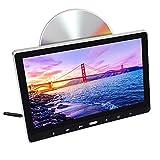 AYQ Tragbare Auto Kopfstütze DVD-Player 2 in 1 Fernbedienung 11,6 Zoll IPS-Bildschirm 1366 * 768RGB Rücksitz Monitor mit USB SD HDMI-Anschluss Wirless Spiele