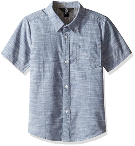 Volcom Baby Little Boys' (4-7) Everett Oxford Short Sleeve Shirt, Smokey Blue, 5