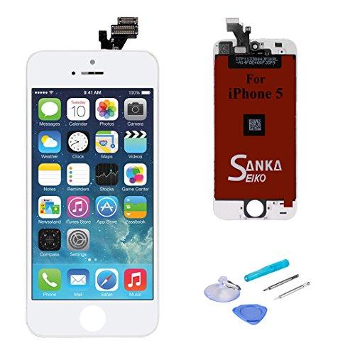 Sanka Schermo Display LCD Assembly Digitizer Sostituzione Schermo per iPhone 5-Bianca
