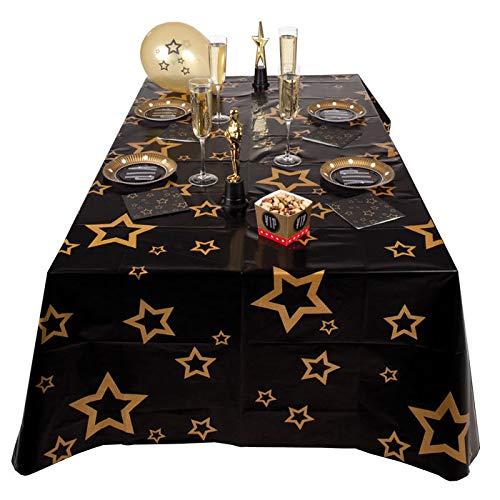 PARTY DISCOUNT Tischdecke VIP mit Sternen, 130 x 180 cm