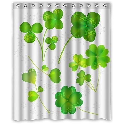 fashion design Irish Shamrock,beautiful Shamrock art decor 100% Polyester Shower Curtain (60