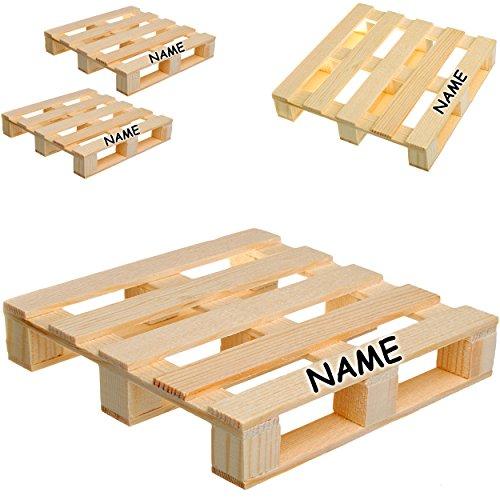 12 tg. Set: kleine Untersetzer / Deko / Spielzeug _  Holz - Paletten  - inkl. Name - Glasuntersetzer - Bierdeckel - Dekoration - Miniatur / Diorama - Geträn..