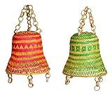 #8: Artesano Bamboo Hanging Lamp Shade without Bulb (Set of 2)