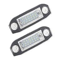 Sharplace 1 Paire De LED Lampe De Plaque D'immatriculation Lumière Pour VOLVO S80 S40 S60 V70 C70 CX60 CX70 CX90