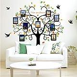 Shuyinju Große 3D Baum Wandaufkleber Foto Rahmen Abnehmbare Familienbaum Wandtattoo Für Wohnzimmer Klebstoff Wohnkultur Wandbilder