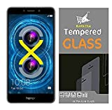 #10: Kavacha (TM) For Huawei Honor 6X Tempered Glass With Alcahol Wet Cloth Dry Cloth, Ultra Clear, Free Bubble,Anti Explosion,Pro+ 2.5D Pro Tempered Glass for Huawei Honor 6X