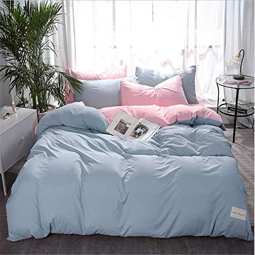 imtextilien Bettbezug Set Einfache Baumwolle Bettwäsche Bettbezug Set Kissenbezüge Abdeckung Anzug B 220x240 cm ()