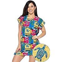 coprire kurta tunica migliori donne tropicale maniche corte girocollo beachwear