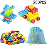 SYGA 260 Pcs Toy Building Bricks Educational Game Blocks Kit for 3+ Childern (Potli Bag)