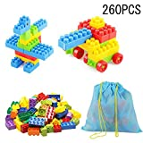 SYGA 260 Pcs Toy Building Bricks Educational Game Blocks Kit for 3+ Childern
