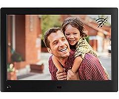 Idea Regalo - NIX Advance - Cornice digitale da 10 pollici ad alta risoluzione, l'unica che riproduce un mix di foto e video HD nella stessa slideshow. Dotata di sensore di movimento HU-Motion