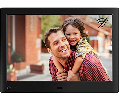 NIX Advance Digitaler Bilderrahmen 10 Zoll. HD IPS Display. Uhr/Kalender. Auto On/Off (Bewegungssensor). Auto Drehung. Intuitive Fernbedienung. Inkl. 8GB USB-Stick