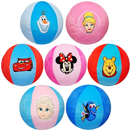 alles-meine.de GmbH großer XL - Stoffball / Softball -  Mädchen Motiv  - Ø 20 cm - Plüschball - für Kinder & Babys - Babyball - Veloursball - Fitnessball Knautsch / Stressball .. (Princess Disney Erwachsene)