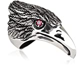 Ring-Siegelring-Silber 26,6 Gr-Mann-biker-Adler Kopf