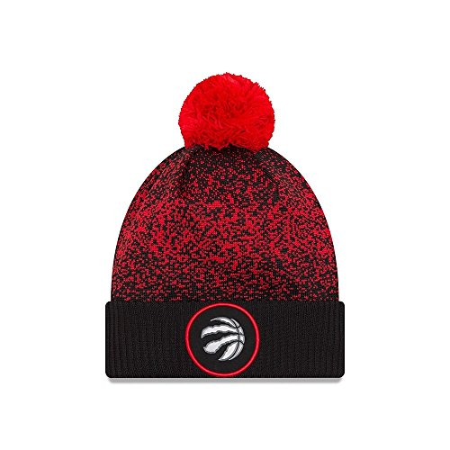 New Era Toronto Raptors NBA '17 Pom Beanie Mütze, black/red/silver
