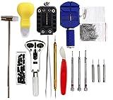 Geepro Uhrenwerkzeug Set 147tlg Uhrmacherwerkzeug Uhr Werkzeug Tasche Reparatur Set Uhrwerkzeug Gehäuse Öffner in Nylontasche watch tool