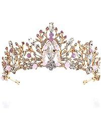 SADASD Copricapo da Sposa Coreano Fatto a Mano Corona di Cristallo Strass  Foglia da Sposa Accessori per Capelli… d2edaf8301e8