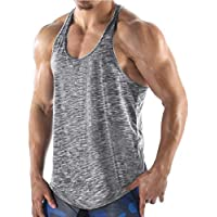COOFANDY Men's Gym Vest Workout Muscle Tee Training Bodybuilding Fitness T Shirts