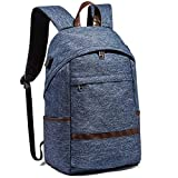 Huichao Wasserdichter Rucksack für unterwegs, Laptop-Rucksack mit USB-Ladeanschluss, Studententasche für Männer und Frauen, 20-35L, 270 * 170 * 430mm,Blue