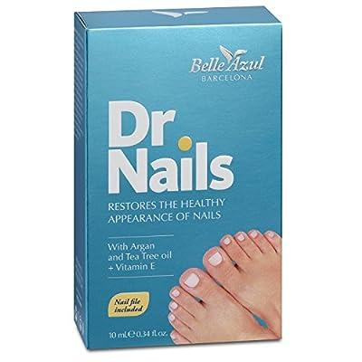 Belle Azul Dr. Nails Nagelpflege gegen Nagelpilz fuer gesunde Naegel. Mit Arganoel, Teebaumoel und Nelkenoel fuer staerkere, helle Naegel. 10ml