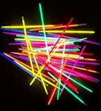 molinoRC 100 Knicklichter 6-FARBMIX | leuchten ewig | Komplett-Set inkl. 100x Verbindungsstücke + - 2X Dreifach- + 2X Ball-Verbindern | deutsche Marke Expressversand BRD
