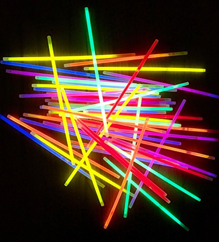 6 Leuchten (molinoRC 100 Knicklichter 6-FARBMIX | leuchten ewig | Komplett-Set inkl. 100x Verbindungsstücke | deutsche Marke)