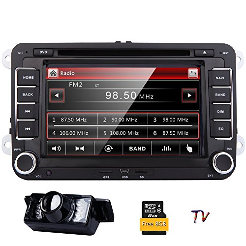 2 Din Autoradio HD 7inch GPS Autoradio-Stereo Speical für VW Volkswagen Cars Golf Passat Touran Sitz Skoda in Dash Bluetooth-GPS-Navigations-CD DVD-Video-Player USB / SD CanBus Head Unit + Rückkamera + Analog-TV