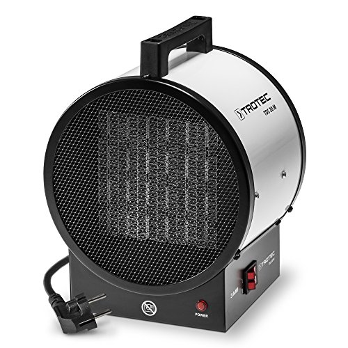 TROTEC Calefactor cerámico TDS 20 M de 3 kW, protección contra sobrecalentamiento, Duradero, Robusto...