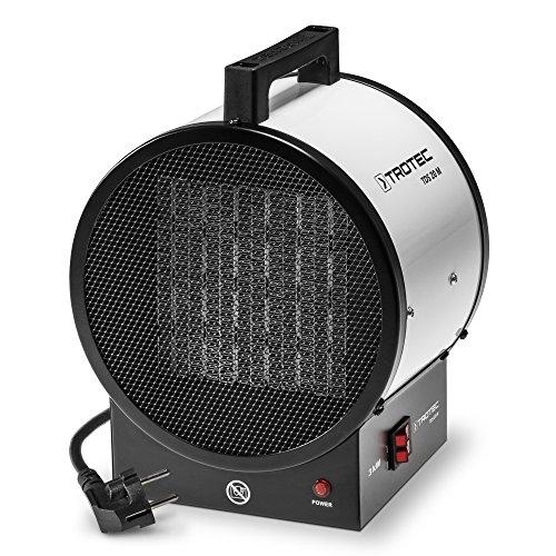 elektrisches heizgeblaese TROTEC Keramik Heizlüfter TDS 20 M 3 kw, Überhitzungsschutz, langlebig, robust, leise, deshalb optimal für Erwärmung von Innenräumen