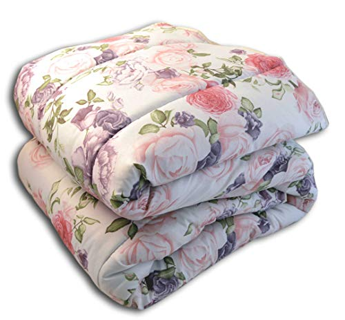 centesimo web shop trapunta piumone in 3 misure prodotta in italia invernale calore 5 floreale fiori rose classica - rosa - piazza e mezza