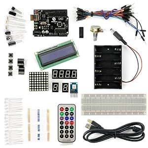 Kompatibel UNO R3+1602LCD Starter Kit Mit 17 Basic Projects Für Anfänger (1602 LCD enthaltend)