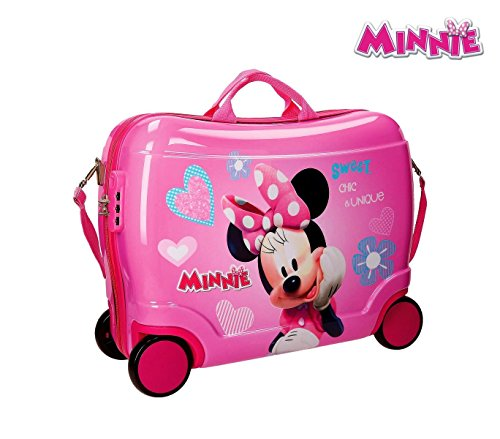 2899951 Maleta trolley correpasillos en ABS equipaje MINNIE MOUSE 50x39x20cm