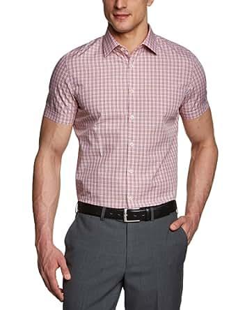 s.Oliver SELECTION Herren Businesshemd Slim Fit, kariert 12.304.22.2607, Gr. 38, Orange (23N1)