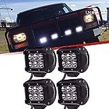 4pcs 18w 4in barra led spot faros antiniebla luces de marcha atrás largo alcance faros de trabajo led 12v-24v focos camión barca máquina remolque excavadora 4x4 offroad coche furgón tractor quads