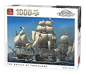 King History Collection Battle Trafalgar 1000 pcs Puzzle - Rompecabezas (Puzzle Rompecabezas, Historia, Adultos, Ivan Berryman, Hombre/Mujer, 8 año(s))