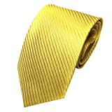 Hicoco Klassische Jacquard Gewebte Gestreifte Krawattenin Verschiedenen Farben 145 * 8cm (Gelb)