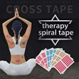 INFIKNIGHT(20sheets/Lot Spiral Cross Kinesiology Tape Physical Therapy Cross Tape