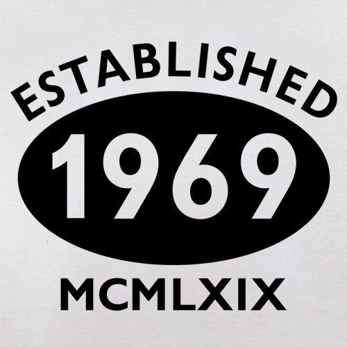Gegründet 1969 Römische Ziffern - 48 Geburtstag - Damen T-Shirt - 14 Farben Weiß