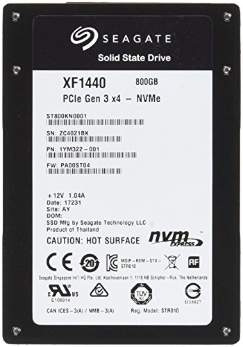 SEAGATE Nytro SSD 800GB 6,4cm 2,5Zoll PCIe Gen3Ã―4 NVMe 1.2a NAND Flash Type eMLC Sector Size Support 512 / 4K Endurance Optimized