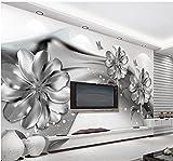 Malilove Foto Dello Sfondo Per Pareti 3D Murales Sfondi Per Il Soggiorno In Bianco E Nero Fiore 3D Sfondo Personalizzato