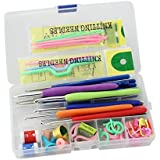 Bulfyss Knitting Crochet Hook Tools Accessories Supplies with Case Knit Kit (Multicolour)