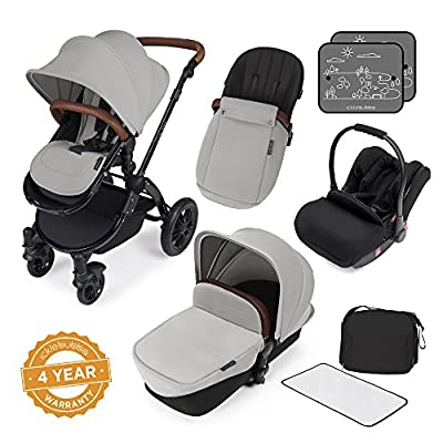 Ickle Bubba Stomp V3 All In One Travel System, Silver on Black Chassis