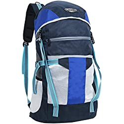 POLE STAR Polyester 40 Ltr Blue & Grey Rucksacks (64 x 32 x 22 CM)