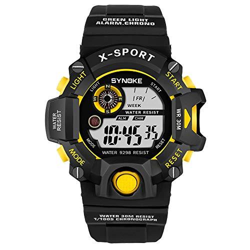 Pottoa Herren Damen Sportuhr | Fitness Analoge Armbanduhr | Multifunktion Armbanduhren Automatik MilitäR Sport-Uhr LED Digital Quarzuhr Der Männer Doppelbewegungsuhr (Verkauf-uhren Für Männer)