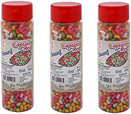 Captain Red Saunf, 125g (Pack of 3)