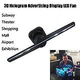 AMUSTER 3D Hologramm Projektor Ventilator LED Ventilator Hologramm 3D nackte Augen LED Fan Holographische Bildgebung Heimkino Projektor Beamer (Schwarz)
