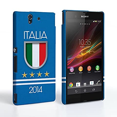 Caseflex Sony Xperia Z Hülle Italia Weltmeisterschaft Hart Schutzhülle
