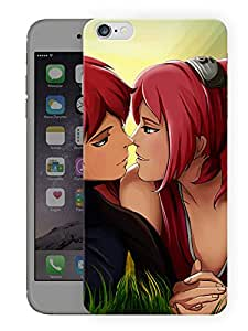 "Humor Gang Cute Love Couple Printed Designer Mobile Back Cover For ""Apple Iphone 7"" (3D, Matte Finish, Premium Quality, Protective Snap On Slim Hard Phone Case, Multi Color)"